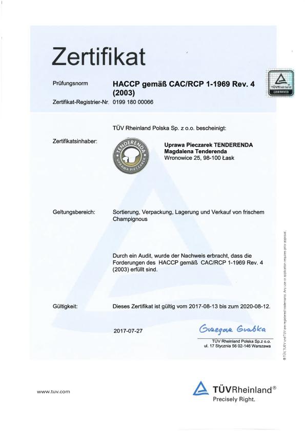 GLOBALGAP certyfikat